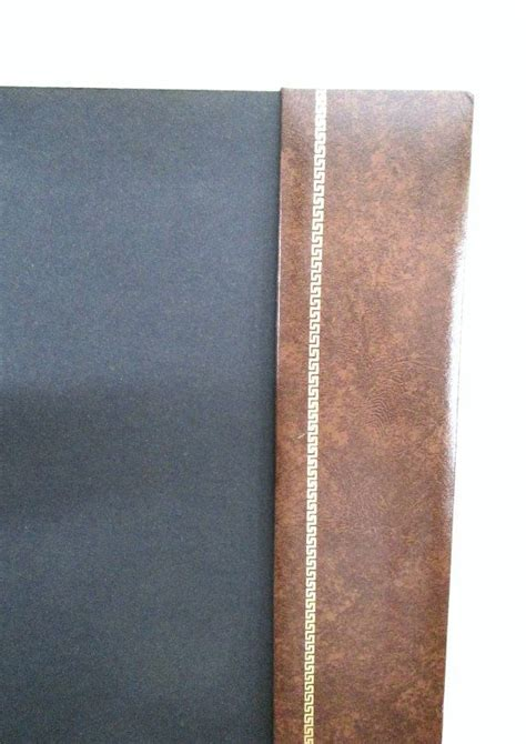 faux leather desk pad key side rails vintage