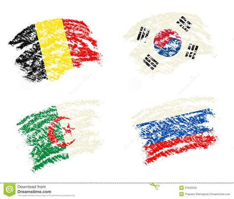 flags of the world to draw crayon draw of group h worldcup soccer 2014 country flags