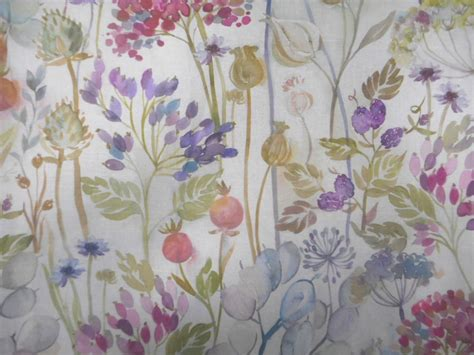 Modern Fabrics For Curtains Inspiration Voyage Decoration Lythmore Hedgerow Floral Designer Curtain Fabric Ebay
