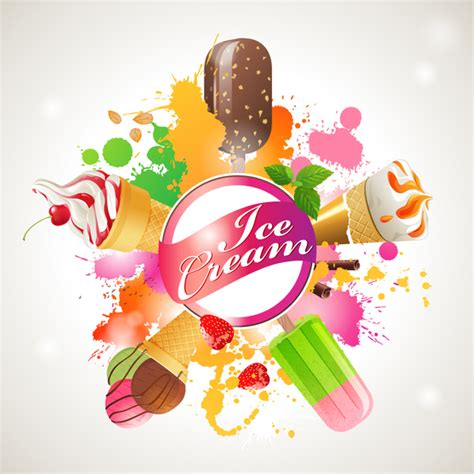design banner ice cream ice cream shop background vector 02 vector food free