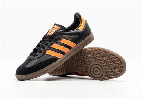 Adidas Samba Black Orange adidas samba black orange b75804 sneaker bar detroit