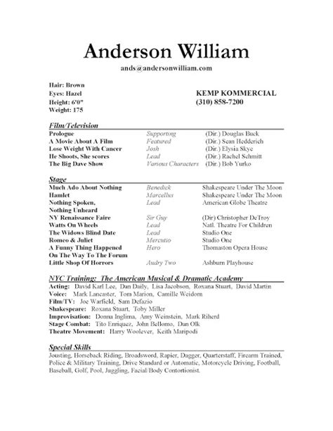 Professional Acting Cover Letter by Toolneks Reference Page For Resume Exles