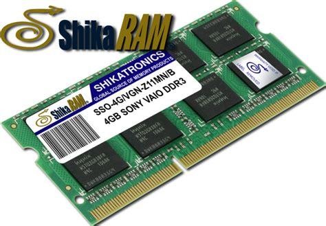 memoria ram 4gb ddr3 shikatronics para portatiles sony