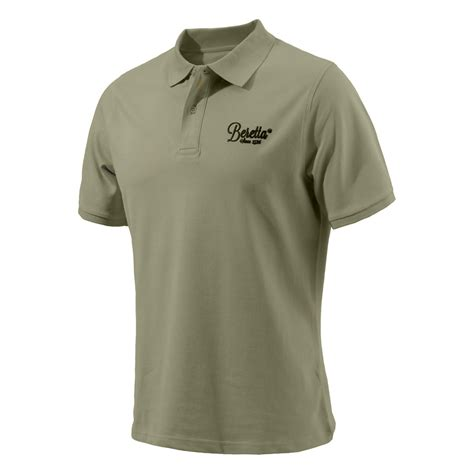 Polo Grey Army beretta corporate logo s polo shirt blue green