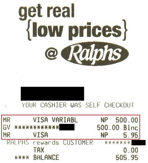 Gift Cards At Ralphs - 500 visa gift cards for 95 cents at ralphs possibly other kroger grocery stores