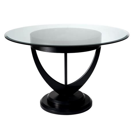 Modern Dining Room Table Png Lalique Dining Table With Sweeping Lines And Bevelled Glass Salmond Furniture