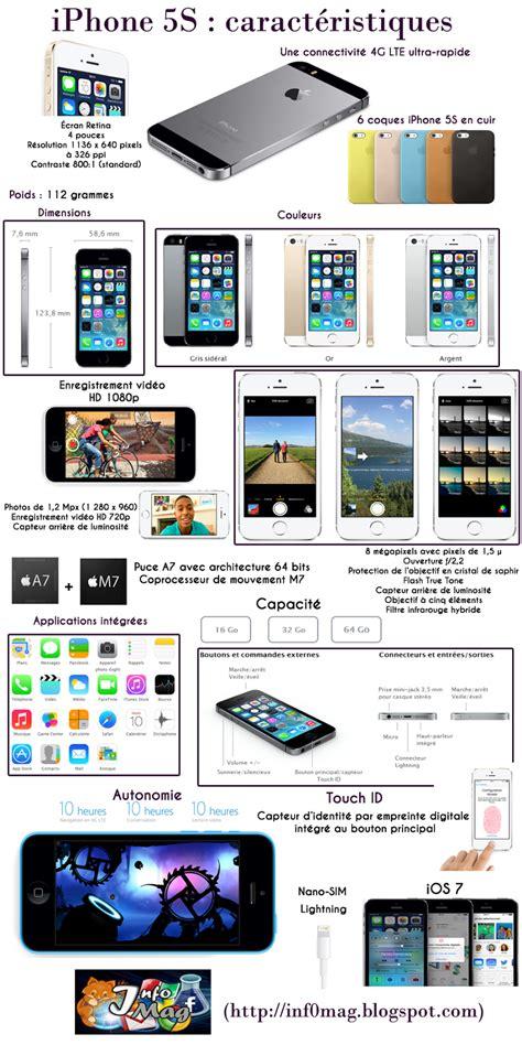 iphone 5s sles iphone 5s les caract 233 ristiques techniques en une image