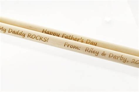 Handmade Drumsticks - 2 custom personalized drum sticks pair maple wood drumsticks