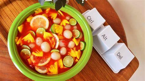 asinan buah rambutan nanas pedas nampol youtube