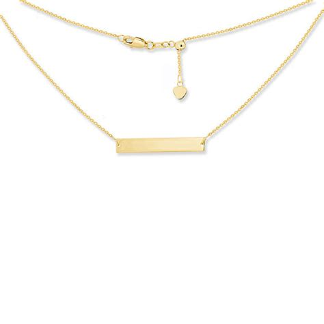 Bar Choker bar choker necklace in 14k gold 16 quot gold necklaces