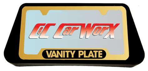 Vanity Plate Availability by Front And Rear License Plate Frame Bracket Assembly To Fit