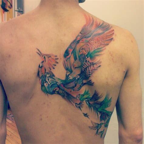 pinterest tattoo on back beautiful birds back tattoo by sarah tattoos pinterest