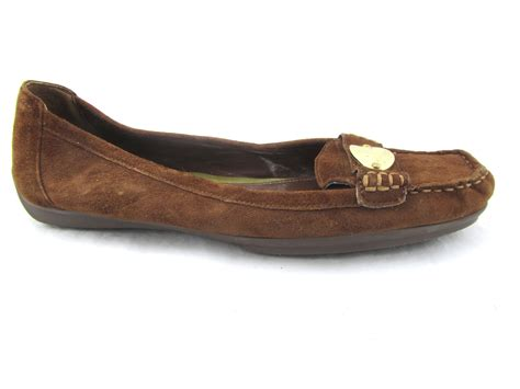 suede moccasin loafers ralph brown suede leather gold plate loafers