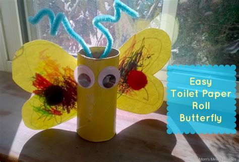 Easy Toilet Paper Roll Crafts - easy butterfly toilet paper roll craft the shirley journey