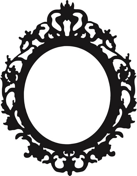 Black And White Home black oval frame clipart 52