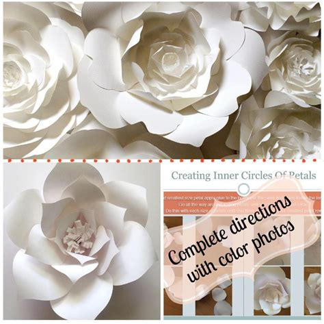 diy paper flower template diy large paper flower template paperflora