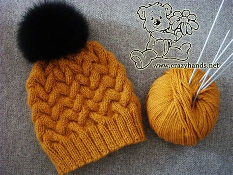 knitting pattern explained step by step tutorial of knitting winter cable hat with