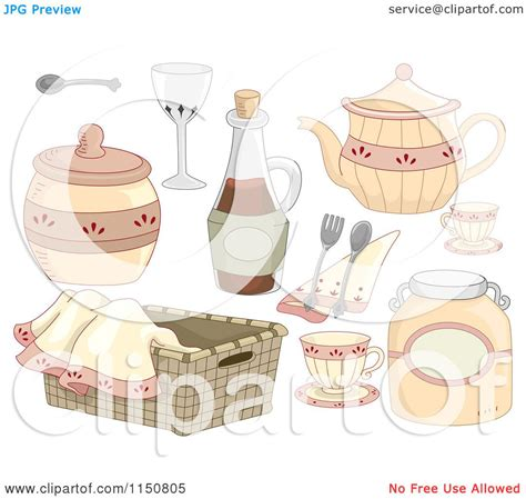 country clipart of country kitchen design elements royalty free