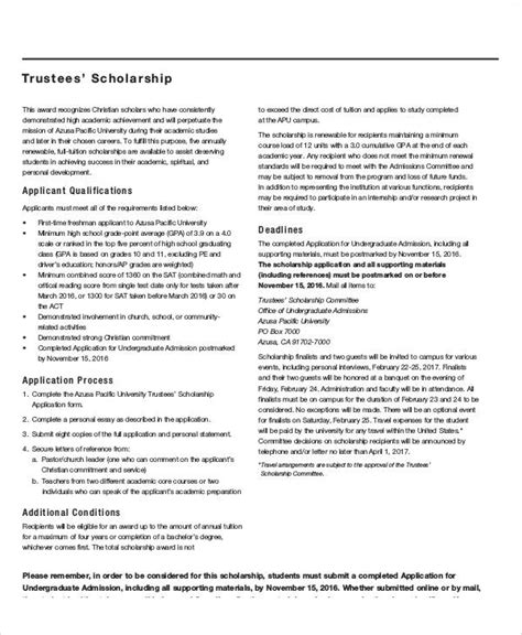 Writing Essays For Scholarship Applications by Sle Scholarship Application Essay 6 Exles In Word Pdf