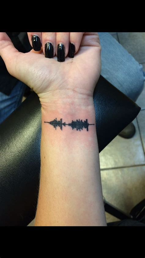 sound wave tattoos the 25 best sound wave ideas on voice