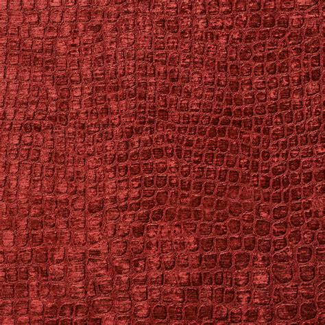 contemporary upholstery fabric burgundy alligator print shiny woven velvet upholstery