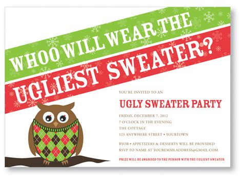 ugly sweater party invitations template best template