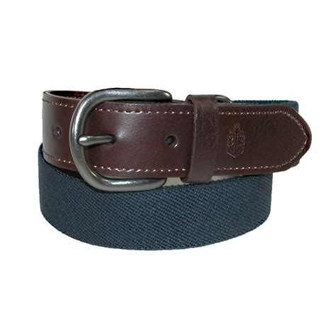 boys web belt with leather tabs by children s