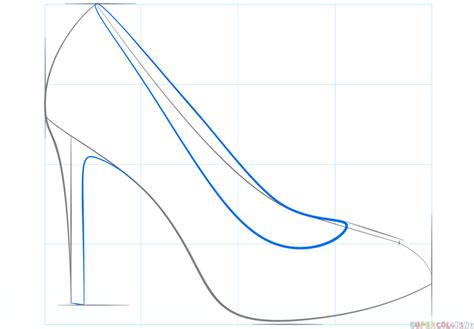 how to draw a high heel shoe step by step drawing tutorials