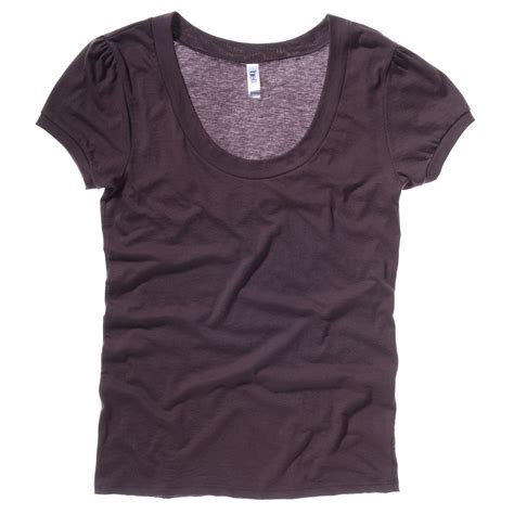 Scoop Neck Sleeve T Shirt canvas womens vintage jersey scoop neck