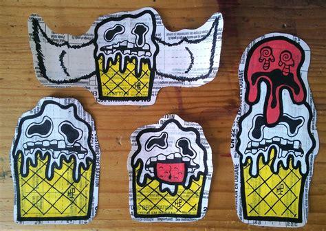 graffiti stickers  ice creams  tnh ed hill