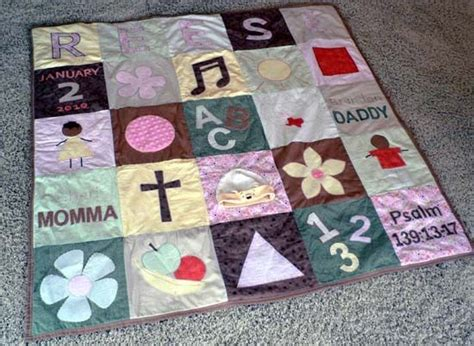 Personalized Baby Quilts by Personalized Baby Quilt Sewing Projects