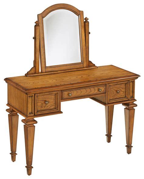 bedroom oak makeup vanity tables americana vanity and mirror transitional bedroom