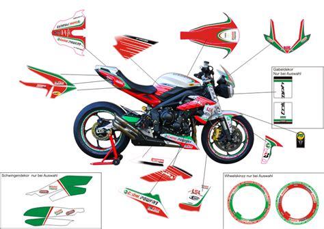 Motorradaufkleber Bikedekore Wheelskinzz Dekor