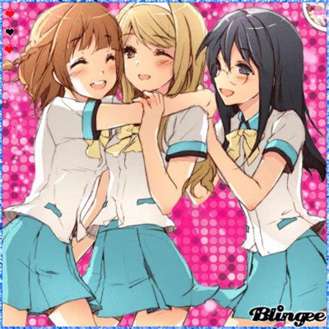 3 Anime Best Friends by Best Friends Gifs Search Find Make Gfycat Gifs