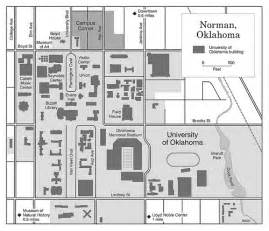 Oklahoma State University Campus Map by Map Of Norman And University Of Oklahoma Campus From The