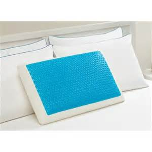 cooling bed pillow 198 0a hydraluxe cooling gel memory foam bed pillow