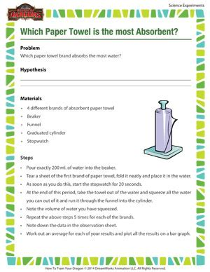 What Makes A Paper Towel Absorbent - which paper towel is the most absorbent science