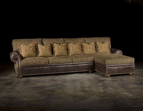 leather and cloth sectional sofas leather fabric sofa colorado style home furnishings