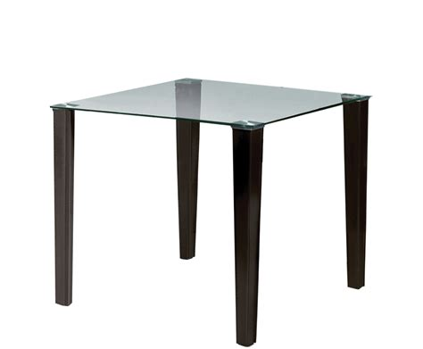 Square Glass Dining Table by Quattro Square Glass Dining Table