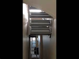 Hide Away Stairs by Hydraulic Hide Away Drop Down Stairs Youtube