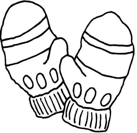 coloring pages of mittens and hats gloves coloring pages clipart best