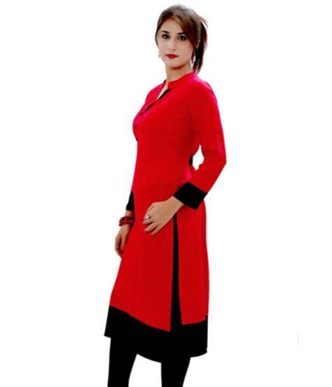 kurtis pattern name buy red plain cotton kurtis online