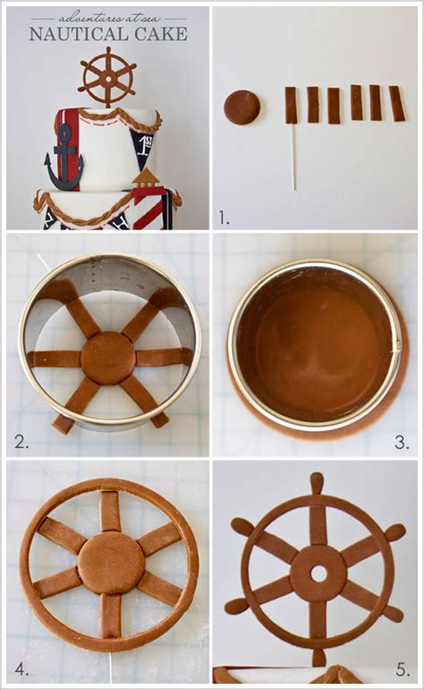boat steering wheel diaper cake beach week nautical cake diy