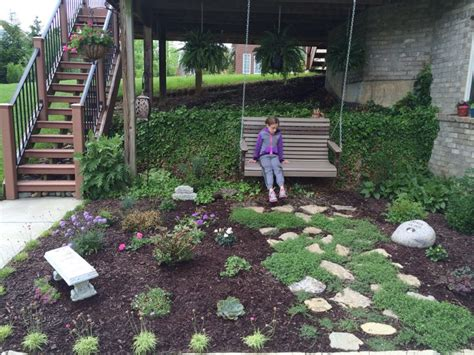 swing under deck under deck garden with swing garden pinterest