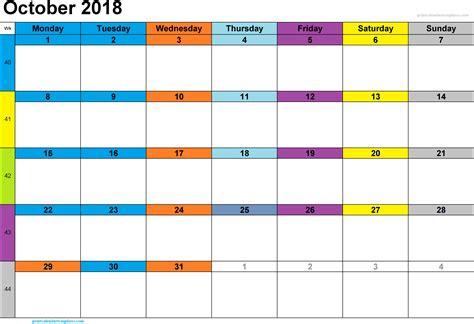 october 2018 calendar october 2018 printable calendar printable calendar templates