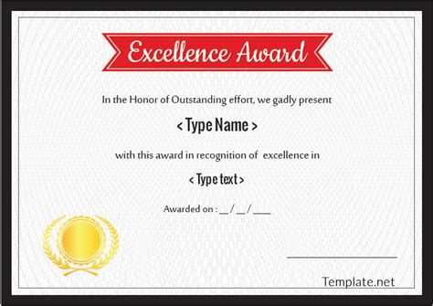 Certificate Illustrator Template by Doc 1040729 Excellence Award Certificate Template