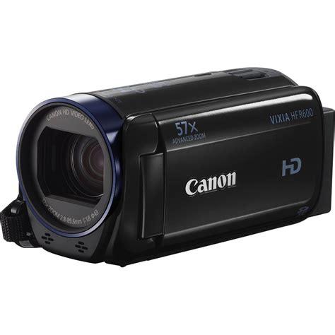 canon vixia canon vixia hf r600 high definition camcorder black ebay