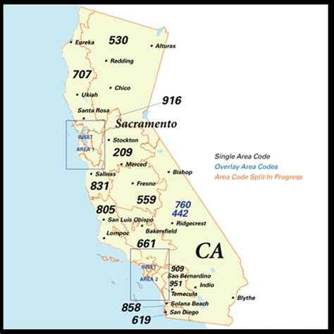 northern california area code map nanpa number resources npa area codes