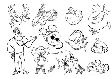coloring pages of nemo characters finding nemo characters coloring pages disney