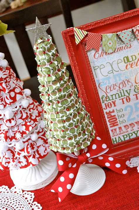 foam christmas tree tutorial ribbon covered little